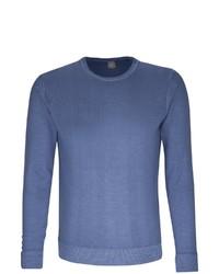 blauer Pullover mit einem Rundhalsausschnitt von Jacques Britt