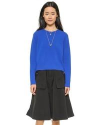 blauer Pullover mit einem Rundhalsausschnitt von Marc by Marc Jacobs