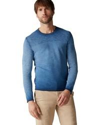 blauer Pullover mit einem Rundhalsausschnitt von Marc O'Polo
