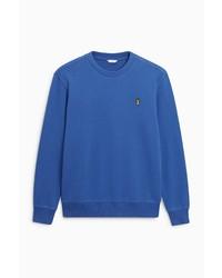 blauer Pullover mit einem Rundhalsausschnitt von next