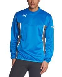 blauer Pullover mit einem Rundhalsausschnitt von Puma