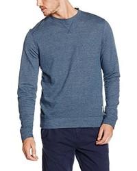 blauer Pullover mit einem Rundhalsausschnitt von Tom Tailor