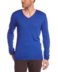 blauer Pullover mit einem V-Ausschnitt von Eleven Paris