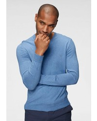 blauer Pullover mit einem V-Ausschnitt von Izod