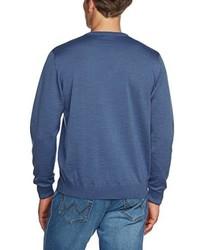 blauer Pullover mit einem V-Ausschnitt von Maerz