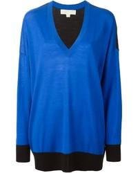 blauer Pullover mit einem V-Ausschnitt von MICHAEL Michael Kors