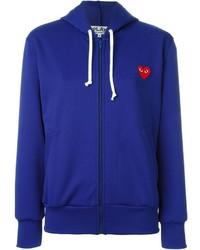 blauer Pullover mit einer Kapuze von Comme des Garcons