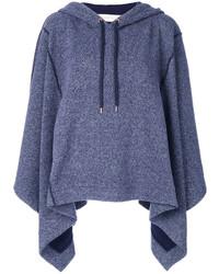 blauer Pullover mit einer Kapuze von See by Chloe