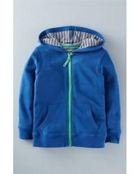 blauer Pullover Mit Kapuze
