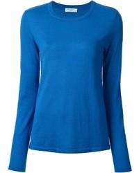 Blauer pullover mit rundhalsausschnitt original 1327155