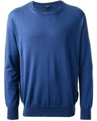 blauer Pullover
