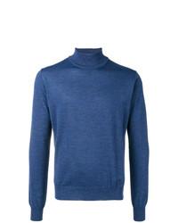 blauer Rollkragenpullover von Corneliani