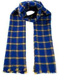 blauer Schal mit Schottenmuster von Marni