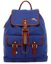 blauer Segeltuch Rucksack