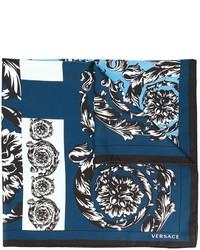 blauer Seideschal von Versace