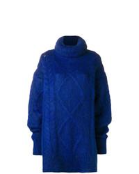 blauer Strick Oversize Pullover von Maison Margiela