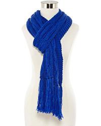 blauer Strick Schal