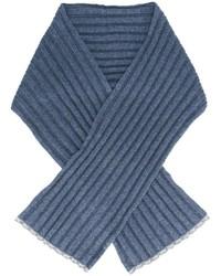 blauer Strick Schal von Brunello Cucinelli