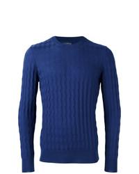blauer Strickpullover von Ballantyne