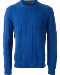 blauer Strickpullover von Etro