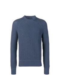 blauer Strickpullover von Prada