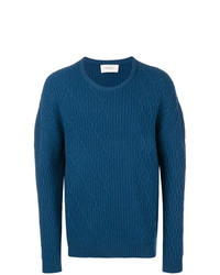 blauer Strickpullover von Pringle Of Scotland