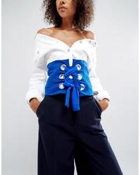 blauer Taillengürtel von ASOS DESIGN