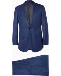 blauer Wollanzug