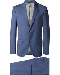 blauer Wollanzug von Alexander McQueen