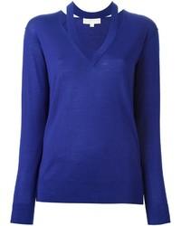 blauer Wollpullover von MICHAEL Michael Kors
