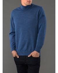 blauer Wollrollkragenpullover von MAERZ Muenchen