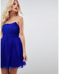 blaues ausgestelltes Kleid von ASOS DESIGN