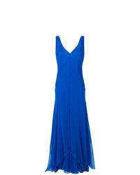 blaues Ballkleid von Alberta Ferretti