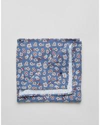 blaues Baumwolle Einstecktuch mit Paisley-Muster von Jack and Jones