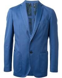 blaues Baumwollsakko