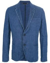 blaues Baumwollsakko von Frankie Morello