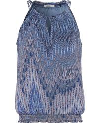 blaues bedrucktes ärmelloses Oberteil von edc by Esprit