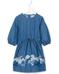 blaues bedrucktes Jeanskleid von Stella McCartney