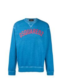 blaues bedrucktes Sweatshirt von DSQUARED2