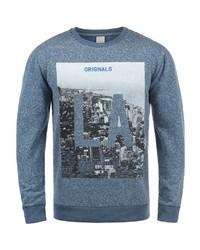 blaues bedrucktes Sweatshirt von Jack & Jones