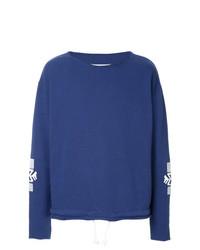 blaues besticktes Sweatshirt von Maison Margiela