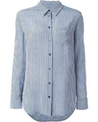 Blaues Businesshemd mit Vichy-Muster von Equipment