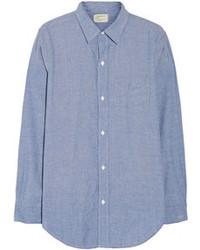 blaues Chambray Businesshemd