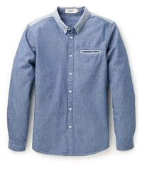 blaues Chambray Businesshemd