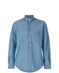 blaues Chambray Businesshemd von Aspesi