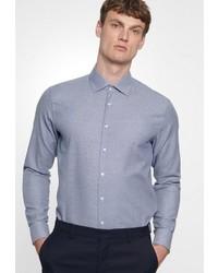 blaues Chambray Businesshemd von Seidensticker