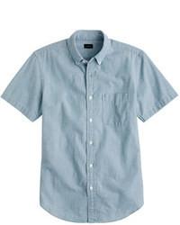 blaues Chambray Kurzarmhemd