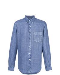 blaues Chambray Langarmhemd von Aspesi