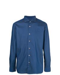 blaues Chambray Langarmhemd von Borriello