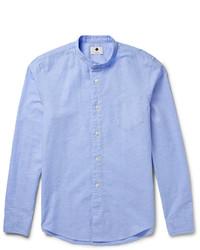 blaues Chambray Langarmhemd